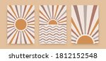 abstract sun posters. boho... | Shutterstock .eps vector #1812152548