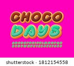vector tasty sign choco days.... | Shutterstock .eps vector #1812154558
