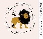sign of the zodiac leo....   Shutterstock .eps vector #1812159718