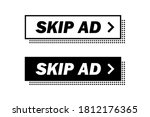skip ad  buttons in white and... | Shutterstock .eps vector #1812176365