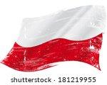 Stock vector a grunge polish flag for you 181219955
