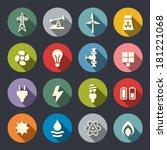 energy icon set | Shutterstock .eps vector #181221068