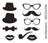 retro hipster set. raster   Shutterstock . vector #181221596
