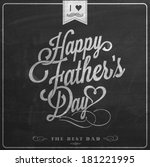 happy father's day... | Shutterstock .eps vector #181221995