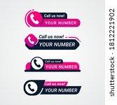 call us now button logo sign... | Shutterstock .eps vector #1812221902