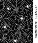 spiders in web | Shutterstock .eps vector #18122257