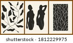 set of three abstract... | Shutterstock .eps vector #1812229975