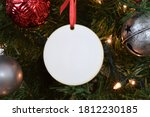 Blank round christmas ornament...