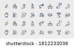 set of washing hands vector...   Shutterstock .eps vector #1812233038