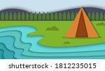 beauty landscape summer camp... | Shutterstock .eps vector #1812235015