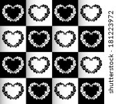 chess hearts seamless... | Shutterstock .eps vector #181223972
