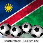 footballs on top of flag  ... | Shutterstock . vector #181224122