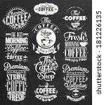 set of vintage retro coffee... | Shutterstock .eps vector #181226135