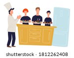 culinary show or workshop with... | Shutterstock .eps vector #1812262408