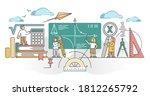 mathematics study as algebra ... | Shutterstock .eps vector #1812265792