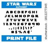 star wars font  star wars font... | Shutterstock .eps vector #1812277345