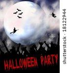 scary j  halloween | Shutterstock . vector #18122944