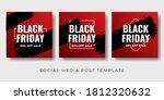 black friday sale banner set.... | Shutterstock .eps vector #1812320632