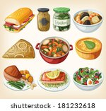 collection of traditional... | Shutterstock .eps vector #181232618