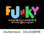 playful style font design ... | Shutterstock .eps vector #1812338098