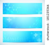 three abstract medical...   Shutterstock .eps vector #181235366