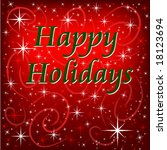 happy holidays background | Shutterstock .eps vector #18123694