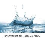 drop splash of fresh water. can ... | Shutterstock . vector #181237802