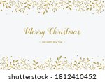christmas wreath with hand... | Shutterstock .eps vector #1812410452