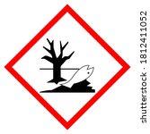 environmental hazard symbol... | Shutterstock .eps vector #1812411052