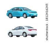 elegant cars semi flat rgb...   Shutterstock .eps vector #1812416245