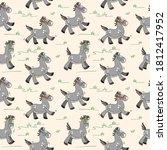 pony pattern. vector seamless... | Shutterstock .eps vector #1812417952