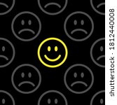 seamless pattern with a smiling ... | Shutterstock .eps vector #1812440008