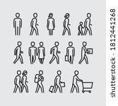 people walking vector line... | Shutterstock .eps vector #1812441268