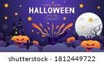 happy halloween sale banner...   Shutterstock .eps vector #1812449722