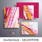 collection of acrylic wedding... | Shutterstock .eps vector #1812459358