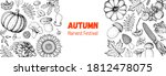 harvest festival. hello autumn... | Shutterstock .eps vector #1812478075