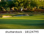Golf Course In The Arizona...