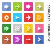 16 arrow icon set 01  white... | Shutterstock .eps vector #181248632