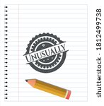 unusually drawn in pencil.... | Shutterstock .eps vector #1812499738