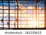 washers wash the windows of... | Shutterstock . vector #181253615