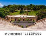 amphitheater in ancient village ... | Shutterstock . vector #181254092