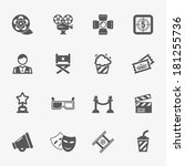 cinema icons  vector. | Shutterstock .eps vector #181255736