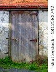 Rustic Old Wooden Shed Door...