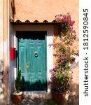 Old Turquoise Door In The...