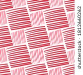Red Striped Squares And...