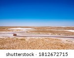 Salty Lake Coast. Lake Salt...