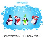 christmas greeting card with... | Shutterstock .eps vector #1812677458