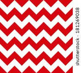 red chevron seamless pattern | Shutterstock .eps vector #181269038