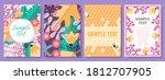 floral garden vector card...   Shutterstock .eps vector #1812707905
