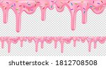 pink dripping frosting with... | Shutterstock .eps vector #1812708508